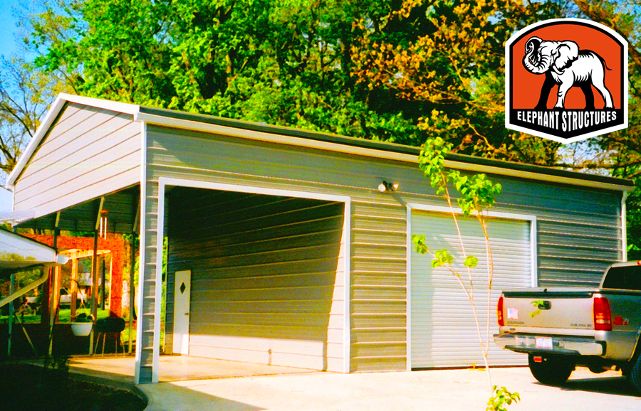 Metal Building Kit Utility Carport/Garage Combo