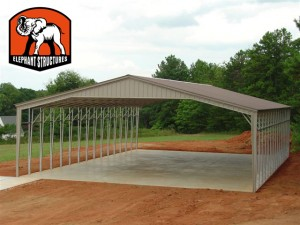 40' Wide Elephant Structures Picnic Shelter