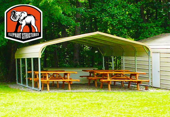 Wood Picnic Shelter http://www.metalshelters.com/blog/